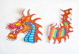 So get your kid a set of crayons or coloring pens and. Chinese Dragon Puppet Kids Craft With Printable Dragon Template