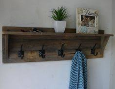 Diy Wall Mounted Coat Rack With Shelf Coat Rack with Floating Shelf Wall mounted coat rack Rustic walls 10