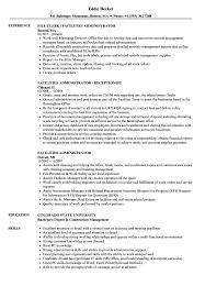 Facilities Administrator Resume Samples Velvet Jobs