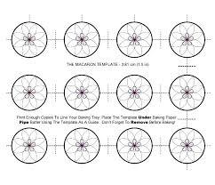 Macaron Guide Sheet Circle Template Macaron Baking Sheet Template Design