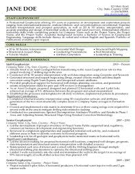 geologist resume samples