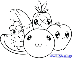 Cute Fruit Coloring Pages More Images Of Cute Fruit Coloring Pages