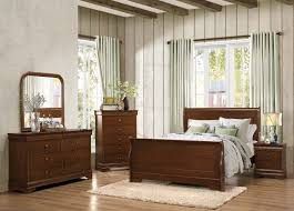sleigh bed furniture. Homelegance Abbeville Sleigh Bedroom Set - Brown Cherry Bed Furniture
