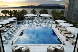 hotel outdoor pool. The President Wilson Hotel In Geneva - Outdoor Swimming Pool