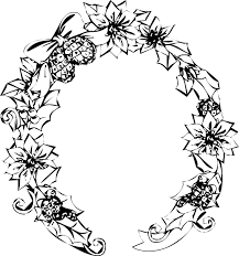 白黒モノクロの花のイラストフリー素材フレーム枠no803白黒