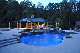 Freeform Pool Designs Freeform Pool Waterfalls Pavilion Outdoor Kitchen