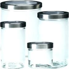 ikea glass jars with lids glass containers frosted glass jar with stainless steel lid tight fitting