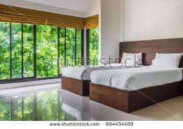 modern twin bed. Perfect Twin Modern Master Bedroom With Twin Beds And Wide Glass Windows The Design To  Give Scenic To Twin Bed H