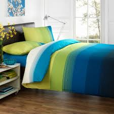 best grant c green and blue cotton reversible duvet covers uk with double cotton knife edge