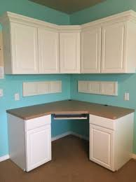 Built In Corner Desk with Cabinets