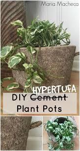 diy hypertufa plant pots