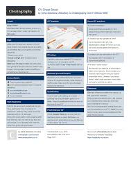 Cv Cheat Sheet By Adriasol Download Free From Cheatography