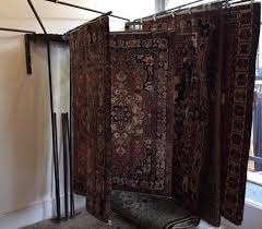 carpet rug display stand x 2