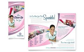 Cleaning Brochure House Cleaning And Maid Services Brochure Template Design By