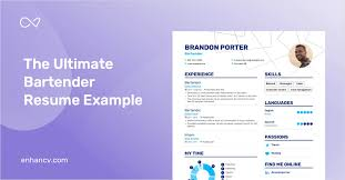 Bartender Resume Example And Guide For 2019