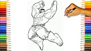 Prepare lots of green markers! Hulk The Strongest Avengers Coloring Pages Hulk Smash Coloring Pages Youtube