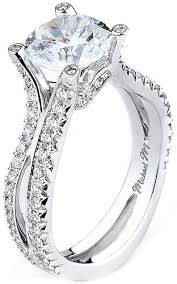 this image shows the setting with a 2 00ct round brilliant cut center diamond the