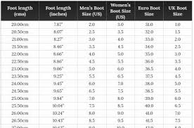 Dc Snow Pants Size Chart Snowboard Boot Sizes Conversion Charts Snowboarding Profiles