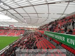 Use the map controls to rotate and zoom the bayer leverkusen stadium view. Bayarena Bayer 04 Leverkusen German Football Grounds