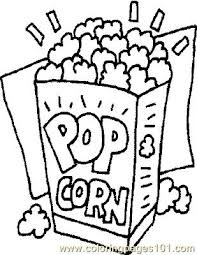 Small Picture Popcorn Coloring Page Free General Foods Coloring Pages