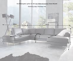 Delife Couch Silas Schwarz 300x200 Cm Ottomane Links