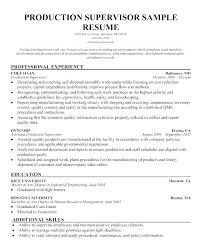 Manufacturing Supervisor Resume Skinalluremedspa Com
