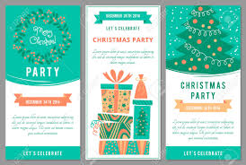 christmas party invitations in cartoon style royalty christmas party invitations in cartoon style stock vector 34210221