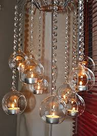 hanging candle holders 3 x crystal octagon garland glass bubble candle holder terrarium suncatcher feng shui