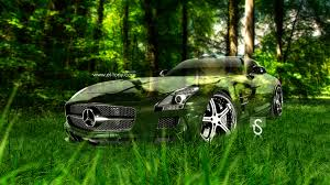 mercedes benz sls amg crystal nature car