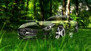 mercedes benz sls amg crystal nature car