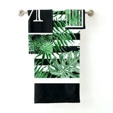 black and white bath towels. Unique Bath Towels Custom Tropical Palm Leafs Black White Stripes Towel Set And
