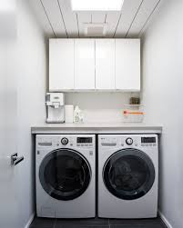 Decorations:Awesome Laundry Room With Intriguing Wash Machine Also  Captivating White Cupboard Design Idea Awesome