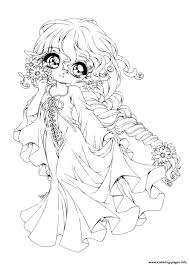 Amazing Christmas Chibi Coloring Pages Printable Coloring Page For