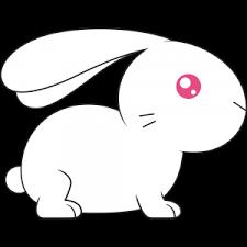 アルビノのウサギのイラスト無料フリー
