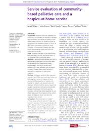 Guidelines For Hospice Admission Flip Chart Pdf Service Evaluation Of Community Based Palliative Care
