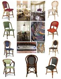 french style bistro chairs rattan for