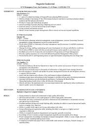 Pmo Resume Samples PMO Manager Resume Samples Velvet Jobs 1
