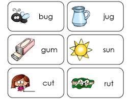 Flashcards Template Word Letter U Cvc Picture And Word Printable Flashcards Preschool