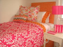 Teen bedding orange and pink