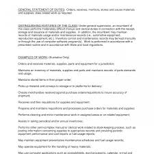 Stocker Job Description For Resume Strikingntory Clerk Resume Warehouse Job Description For Rater 1