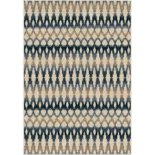 orian rugs indoor outdoor southwest links ikat ombre multi area rug 5 2 x