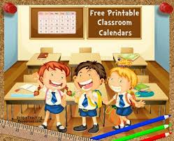 Free Printable Charts For Classroom Free Printable Classroom Calendars For School Teachers