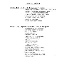 Cobol Structure Chart Cobol