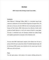 Short Business Report Sample Free 6 Examples Of Short Report In Pdf Examples