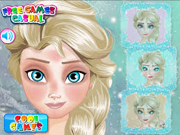 let s help elsa makeup for her going to now