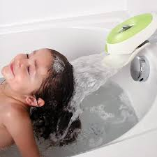 flo water deflector bubble bath dispenser