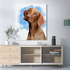 dog lover canvas wall art dog portraits