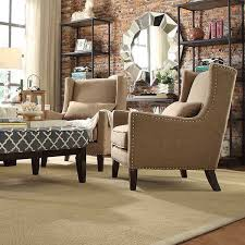 INSPIRE Q Henry Wingback Nailhead Upholstered Club Chair with Pillow -  Overstock Shopping - Great