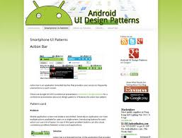 Android Design Patterns Gorgeous Mobile UI Design Patterns 48 Sites For Inspiration
