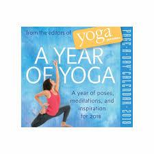 a year of yoga desk calendar 2018